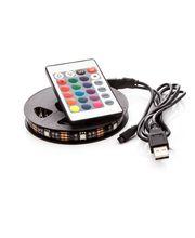 OPTY LED pásek 110cm, do USB, 33 diod, dálkový ovladač, 20 barev, samolepící