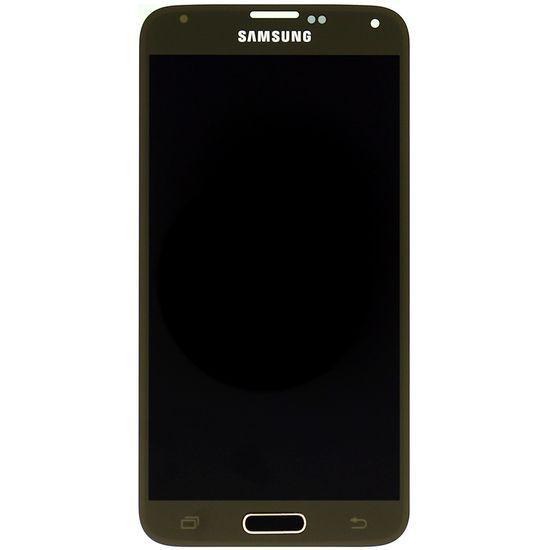 Náhradní díl LCD displej s dotykovou vrstvou na Samsung G900 Galaxy S5, zlatá