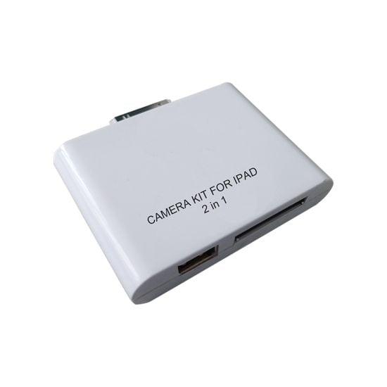 Adaptér 2v1 - čtečka SD karet/USB pro Nový iPad/iPad 2/iPad