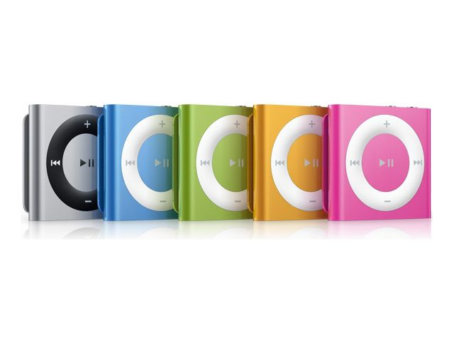 obsah balení Apple iPod shuffle 2GB Green 4.gen + reproduktor přenosný Soundtraveller K3000ST