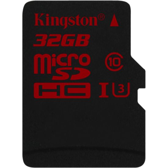 Kingston microSDHC 32GB Class 10/UHS-I U3, zápis 80MB/s + SD adaptér