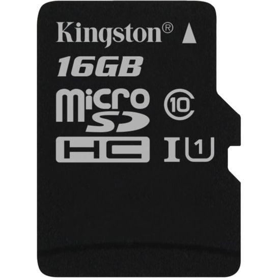 Kingston microSDHC 16GB Class 10/UHS-I, zápis 10MB/s + SD adaptér - rozbaleno