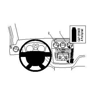 Brodit ProClip montážní konzole pro Ford Tourneo/Transit Connect 10-13, na střed