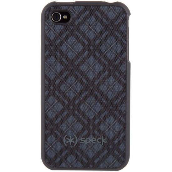 Speck pouzdro Fitted Case pro iPhone 4S/4 Darkest Tartan - černá/šedá