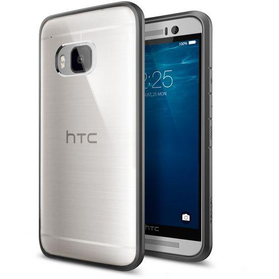Spigen tenký kryt Ultra Hybrid pro HTC One M9, šedá
