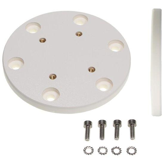 Brodit kruhová montážní podložka, průměr 100 mm, 4x AMPS, bílá