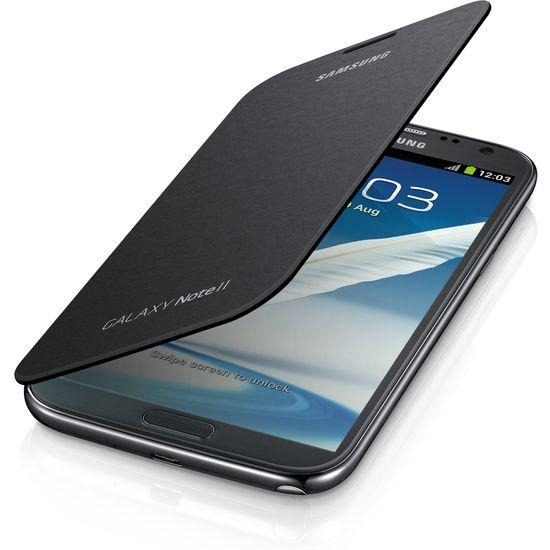 Samsung flipové pouzdro EFC-1J9FS pro Galaxy Note II, stříbrné