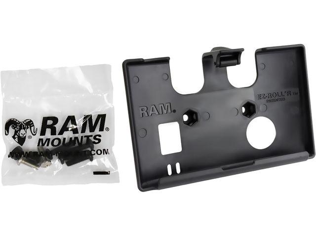 obsah balení RAM Mounts držák na Garmin nuvi 52, 54 s úchytem na motorku na řídítka do středu vidlice, sestava RAM-B-176-GA55U