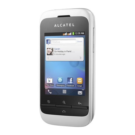 Alcatel One Touch 903D Dual SIM bílá