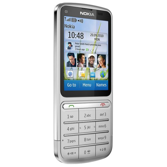 Nokia C3-01.5 (Touch and Type) Silver