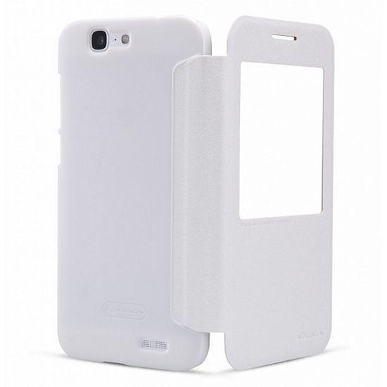 Nillkin Sparkle S-View Pouzdro pro Huawei Ascend P8, bílý