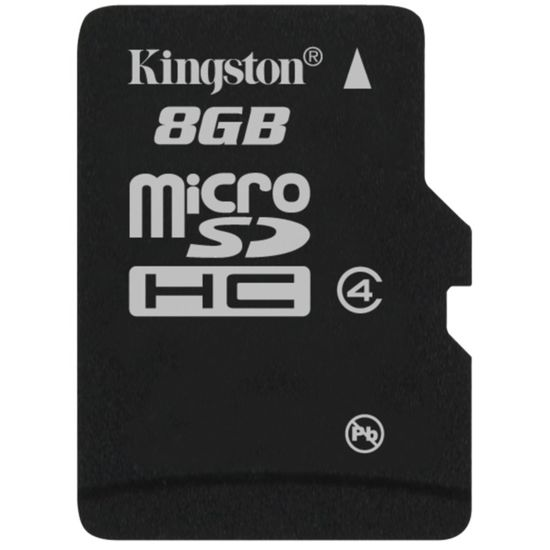 Kingston microSDHC 8GB Class 4 Single Pack paměťová karta