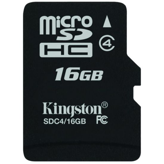Kingston microSDHC 16GB Class 4 paměťová karta
