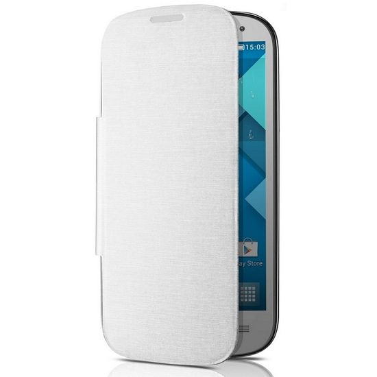 ALCATEL ONE TOUCH 5036D POP C5 Flip pouzdro, White