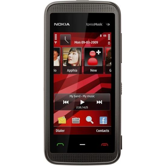 NOKIA 5530 XpressMusic Black Red 2GB + fólie Brando