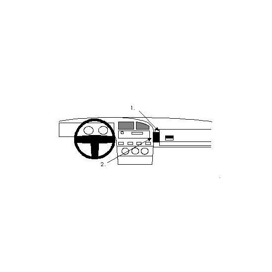 Brodit ProClip montážní konzole pro Volkswagen Corrado 88-93, na střed