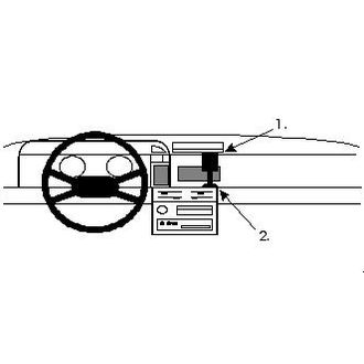 Brodit ProClip montážní konzole pro Nissan Sunny 87-90, na střed