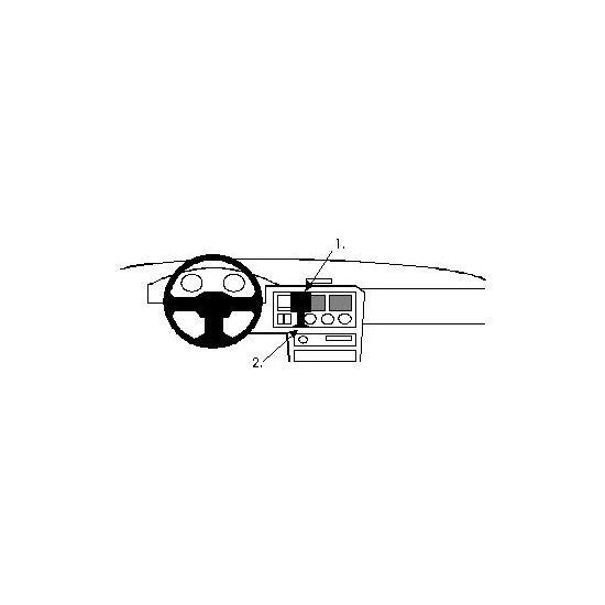 Brodit ProClip montážní konzole pro Ford Escort 91-95, na střed