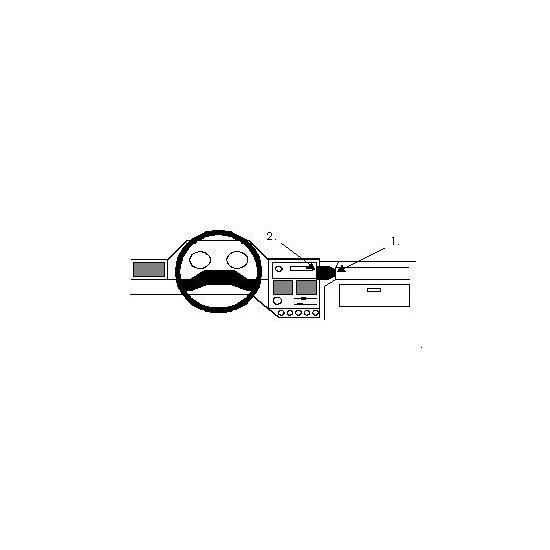 Brodit ProClip montážní konzole pro Peugeot 106 92-95, na střed