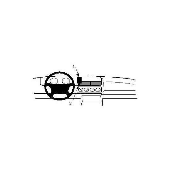 Brodit ProClip montážní konzole pro Renault Safrane 93-01, na střed