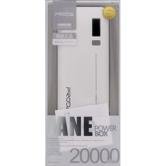Remax Jane V10i powerbanka 20000mAh, bílá