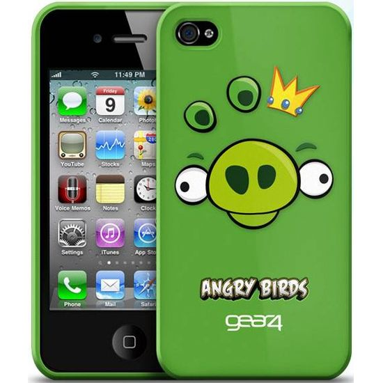 Gear4 pouzdro pro iPhone 4 Angry Birds Green