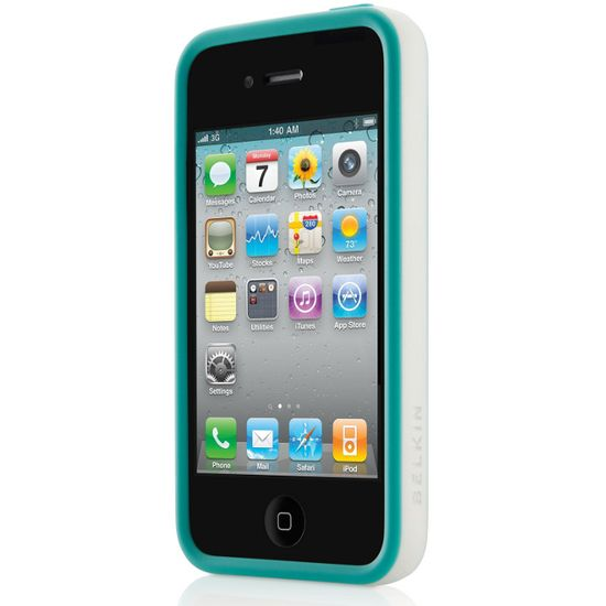 Belkin Apple iPhone 4/4S Grip candy, modrá (F8Z814cwC00)