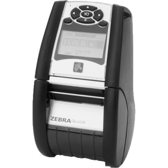 Tiskárna Zebra QLN220, Direct Thermal, Wi-Fi, Ethernet, Linered Platen, 0.75 jádro QN2-AUNAEE10-00