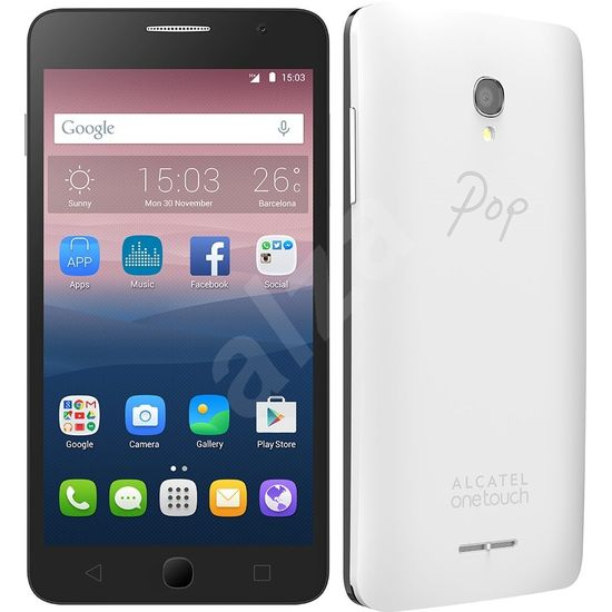 Alcatel 5022D POP STAR White, 3 kryty
