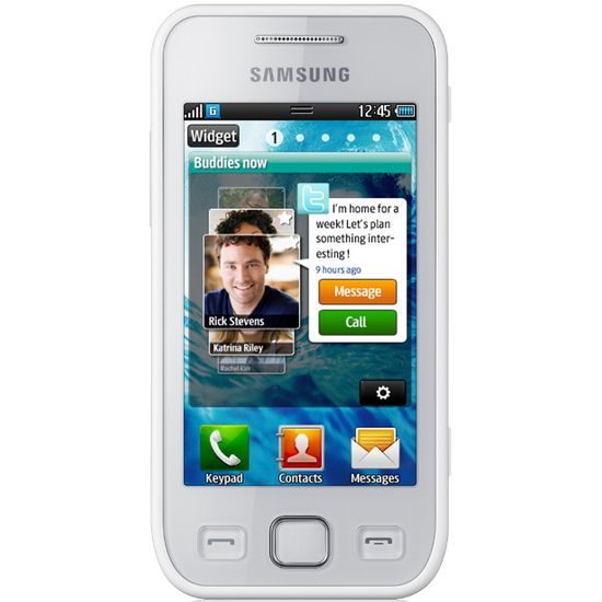 Samsung Wave 525 pearl white