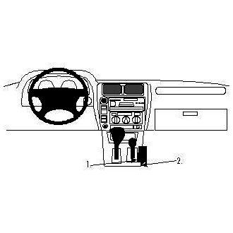 Brodit ProClip montážní konzole pro Toyota LandCruiser 90 97-02, na středový tunel
