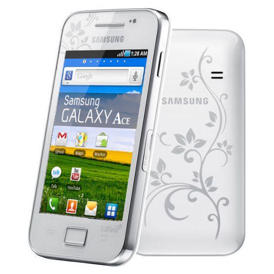 Samsung S5830i Galaxy Ace White La Fleur