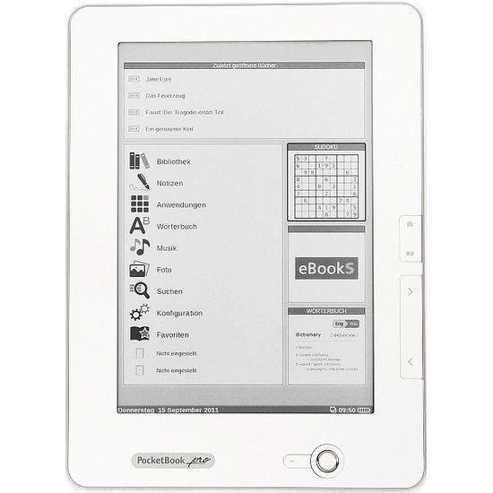 """PocketBook PRO 912, čtečka elektronických knih, 9,7"""" E-ink displej, Matt White"""