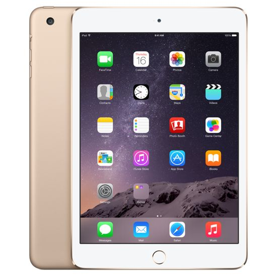 Apple iPad mini 3, 128GB Wi-Fi, zlatý