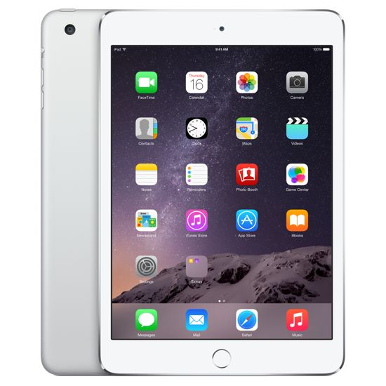 Apple iPad mini 3, 16GB Wi-Fi Cellular, stříbrný
