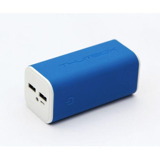 Thumbox záložní baterie 10400mAh - modrá