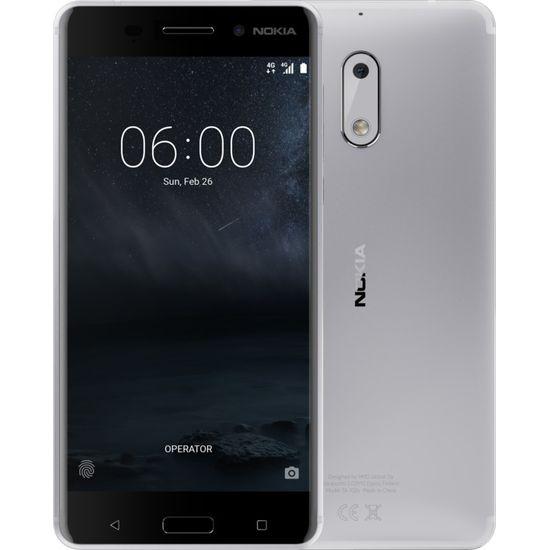 Nokia 6 Single SIM stříbrná