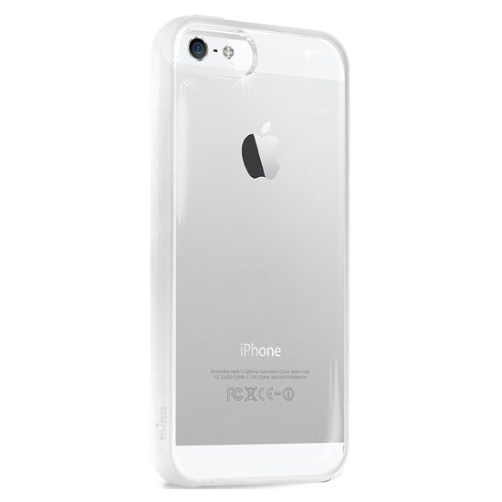 PURO pouzdro Clear Cover pro Apple iPhone 5 - bílá