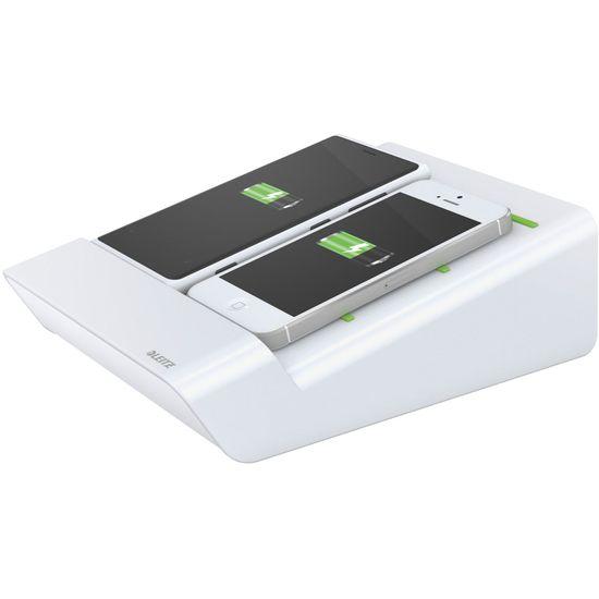 Leitz Complete Duo nabíječka pro mobilní telefony, bilá