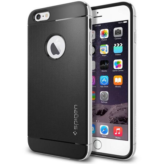 Spigen pouzdro Neo Hybrid Metal pro Apple iPhone 6 Plus, stříbrná