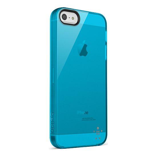 Belkin pouzdro Grip Vue pro Apple iPhone 5 - světle modré (F8W093vfC04)