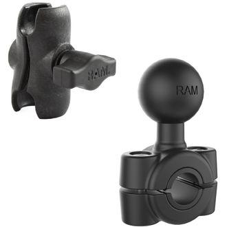 """RAM Mounts sestava pro držák s 1"""" čepem s krátkým ramenem s objímkou na zrcátko, opěrku nebo jinou tyč o Ø 9,52 - 15,88 mm, vysokopevnostní plast, RAP-B-408-37-62-XAU"""