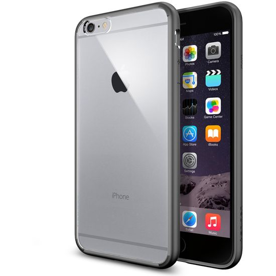 Spigen tenký kryt Ultra Hybrid pro Apple iPhone 6 Plus, šedá
