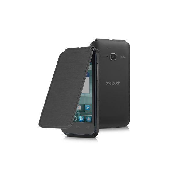 Alcatel flipové pouzdro pro One Touch M'POP, černá