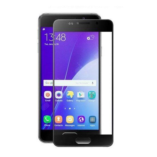 VMAX 9H 0,33mm tvrzené sklo pro Samsung Galaxy A3 (2017), ochranné sklo na displej, zahnuté, černé