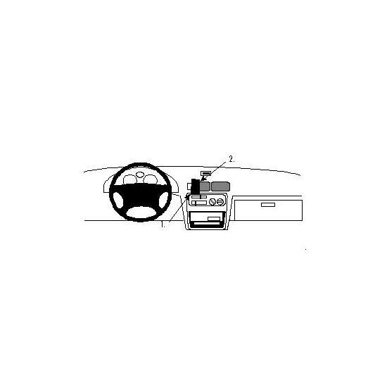 Brodit ProClip montážní konzole pro Toyota Starlet 96-98 Evropa/Paseo 96-97 USA, na střed