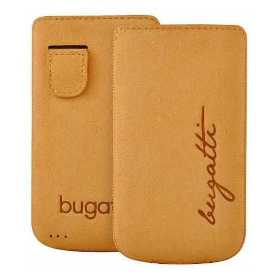 Bugatti Perfect Velvety leather case pro iPhone 4/4S - béžové