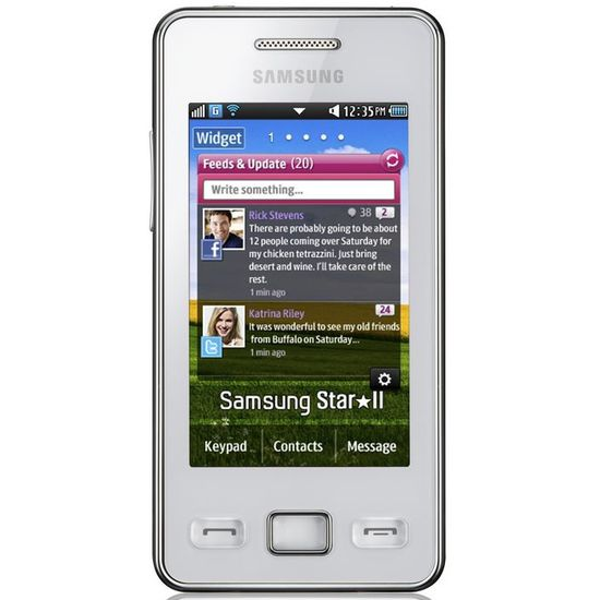 Samsung S5260 Star II Ceramic White
