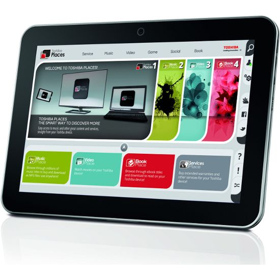 "Toshiba AT200-101, 10.1"" 1280x800 Multi Touch Tablet,Dual-Core 1,2GHz,16GB,Wi-Fi,HDMI"