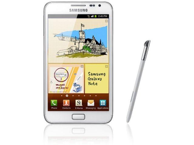 obsah balení Samsung Galaxy Note bílý + Originální baterie
